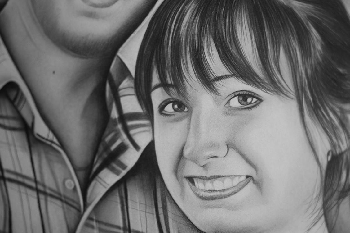 Kadriart portree joonistused ja illustratsioonid Pliiatsijoonistus-paarist-1