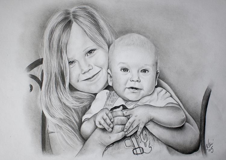 Kadriart portree joonistused ja illustratsioonid Portreejoonistus-1