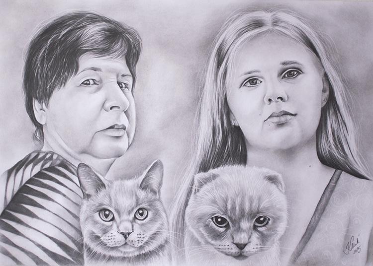 Kadriart portree joonistused ja illustratsioonid Portreejoonistus-10