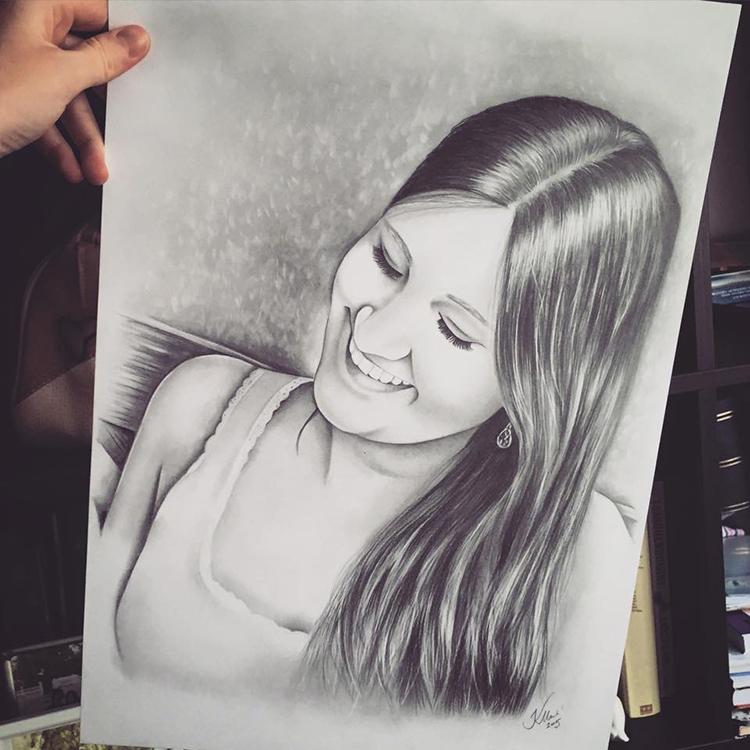 Kadriart portree joonistused ja illustratsioonid Portreejoonistus-13