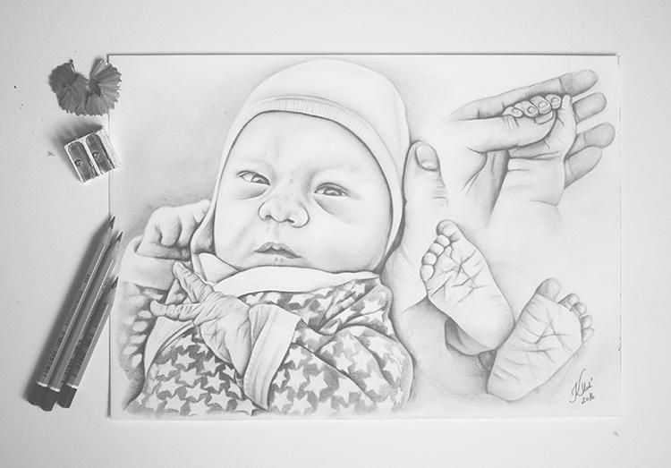 Kadriart portree joonistused ja illustratsioonid Portreejoonistus-40