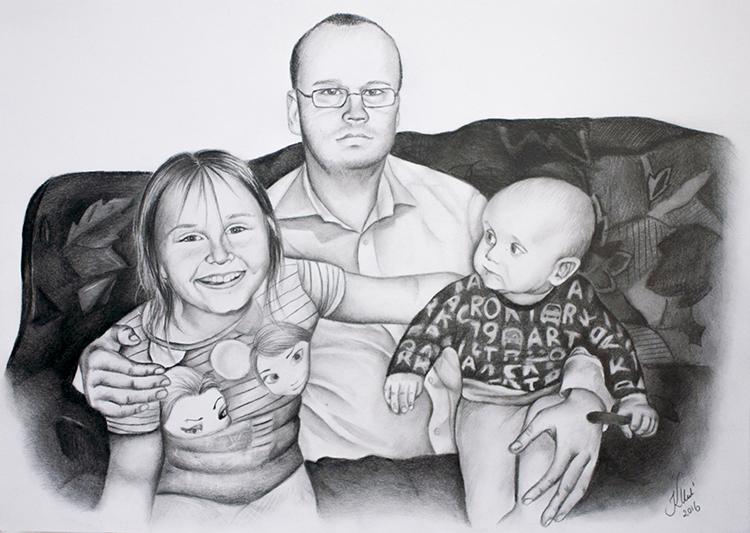 Kadriart portree joonistused ja illustratsioonid Portreejoonistus-56