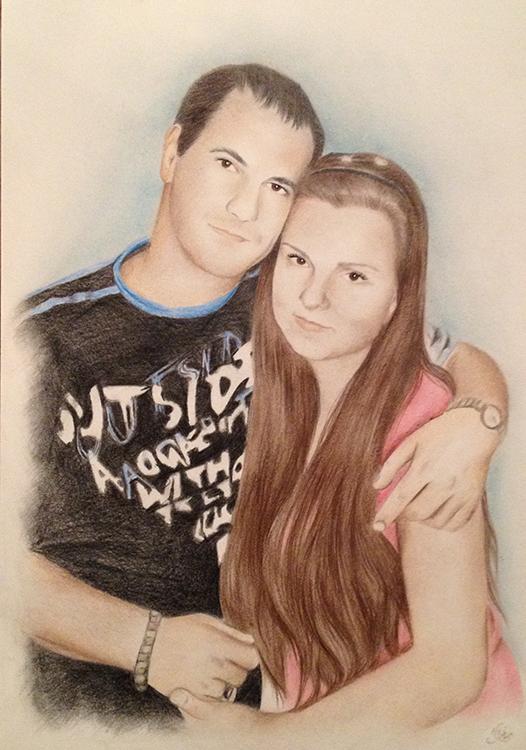 Kadriart portree joonistused ja illustratsioonid värviline-portreejoonistus-1
