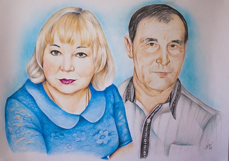 Kadriart portree joonistused ja illustratsioonid värviline-portreejoonistus-2