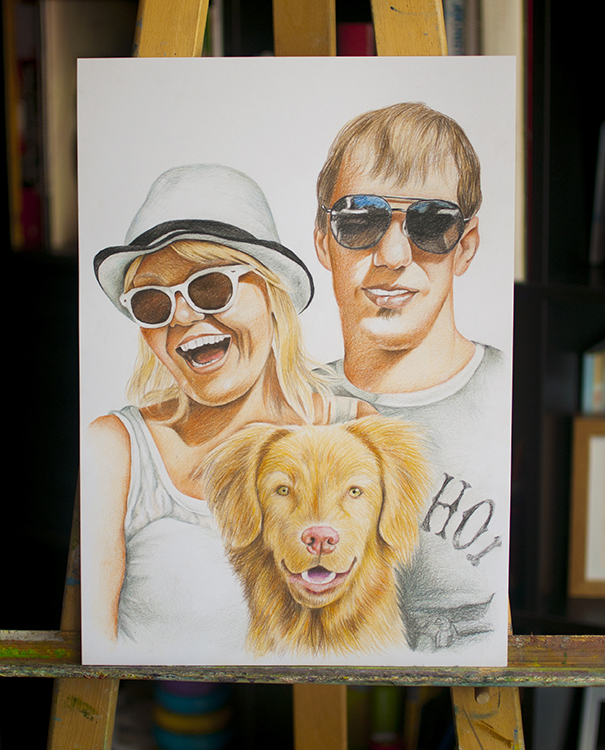Kadriart portree joonistused ja illustratsioonid värviline-portreejoonistus-3