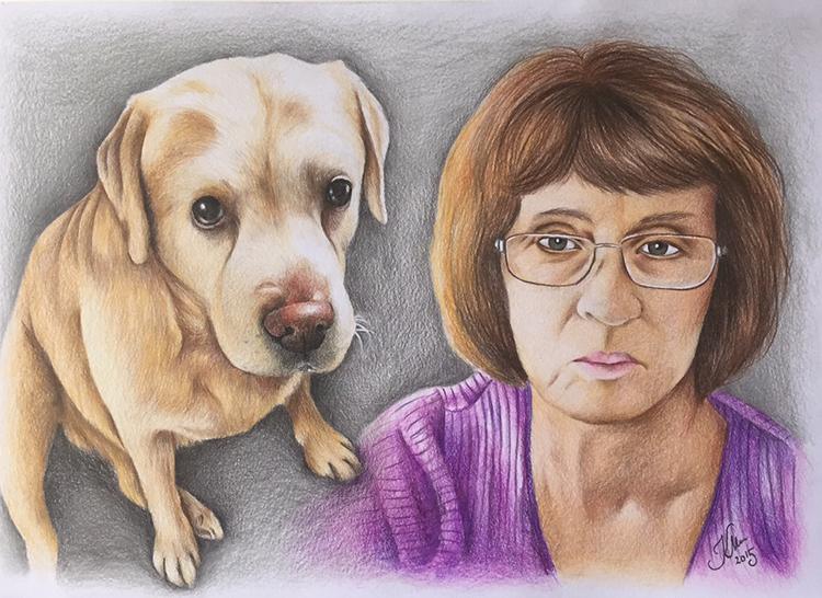 Kadriart portree joonistused ja illustratsioonid värviline-portreejoonistus-9