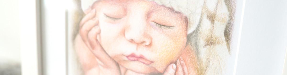 Kadriart portree joonistused beebiblogo