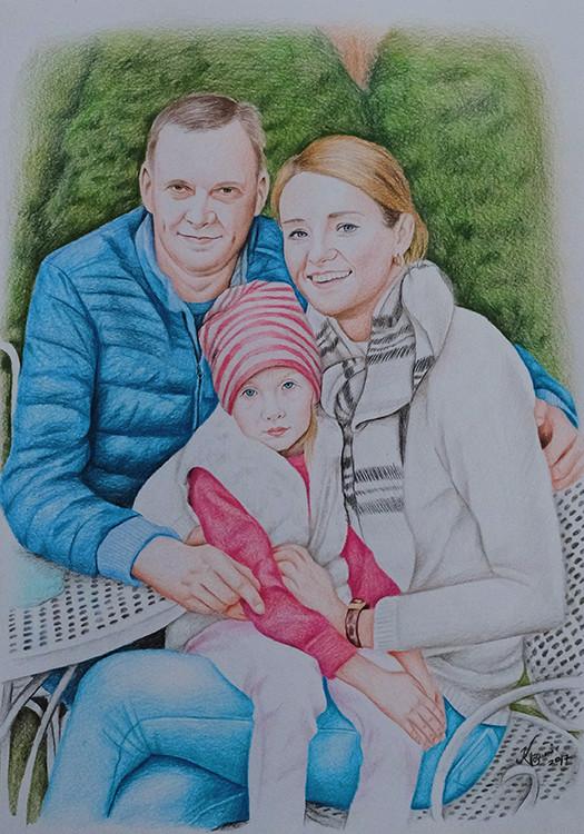 Kadriart portree joonistused ja illustratsioonid pereA33