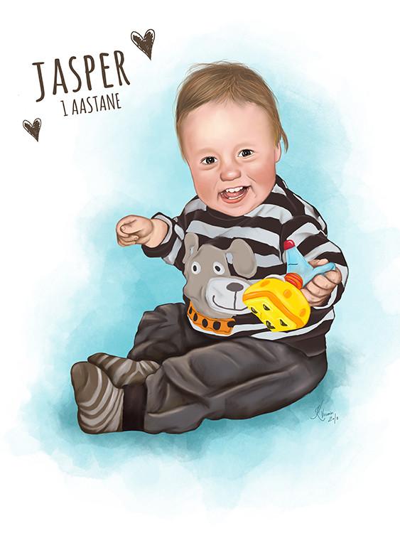 Kadriart portree joonistused ja illustratsioonid Digimaal-foto-järgi-JAsper-1