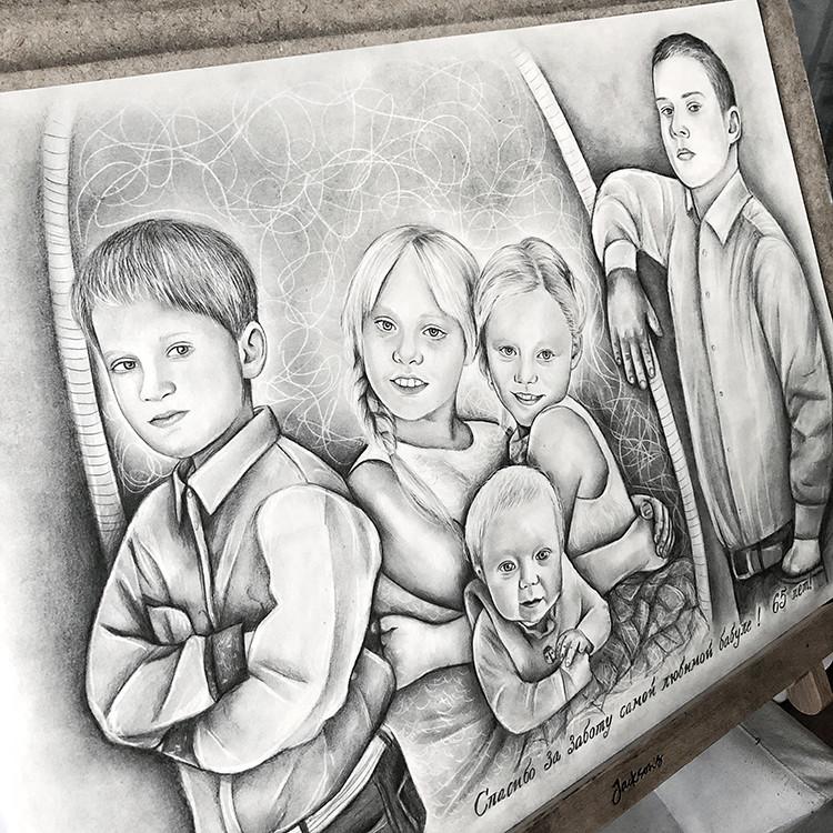 Kadriart portree joonistused ja illustratsioonid Pliiatsijoonistus-foto-järgi-2