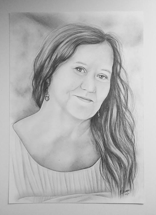 Kadriart portree joonistused ja illustratsioonid Portree-joonistus-foto-järgi-1