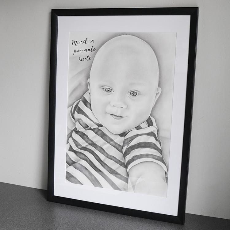 Kadriart portree joonistused ja illustratsioonid Portreejoonistus-fotost-5